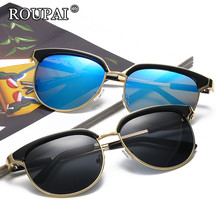 ROUPAI 2017 Oculos UV400 Sun Glasses Fashion Female Eyewear Women Brand Designer Luxury Coating Sunglasses Women's Shades