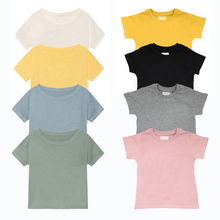 Childrens T-Shirt 2019 New Summer Casual Baby Boys T Shirt 100% Cottom Kids For Girls Tops White Clothes Brand