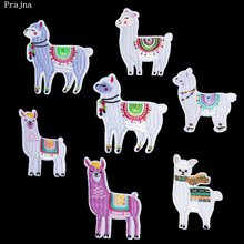 Prajna Animal Cartoon Alpaca Patch Embroidered Stickers Iron On Patches For Clothing DIY Jeans Ornaments Cloth Stickers Applique(China)