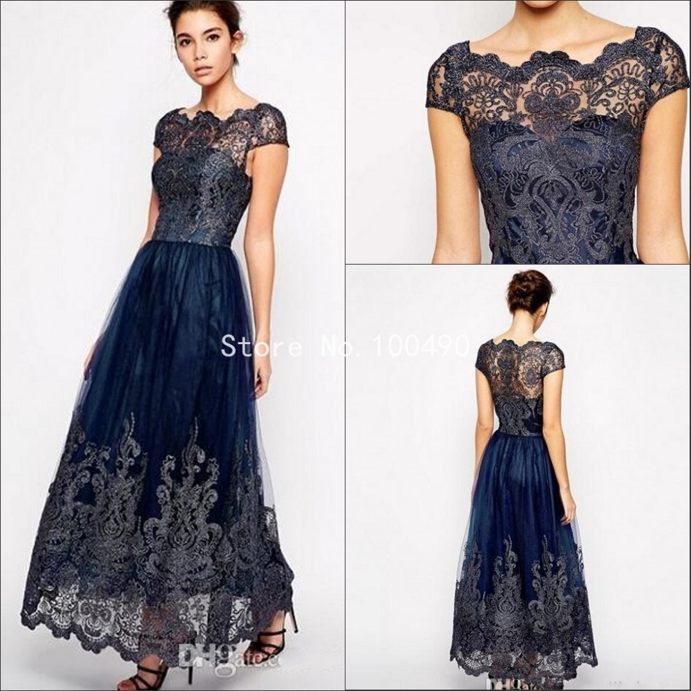 Aliexpress.com : Buy Navy Blue Mother Of The Bride Dresses ...