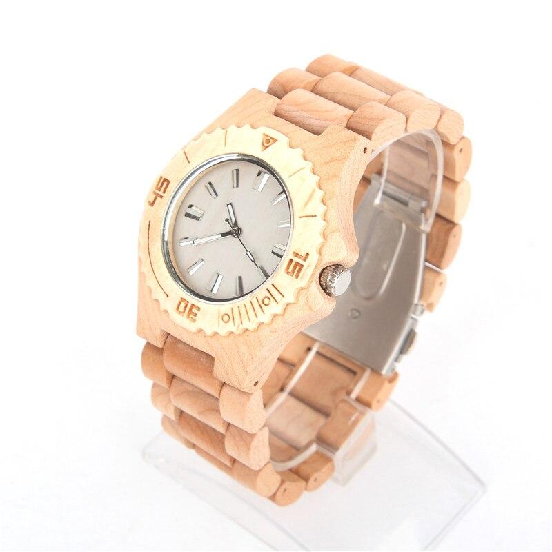 Natural wood handmade watch light color unisex Vegan Quartz Casual Wrist original watch WA-66-5602