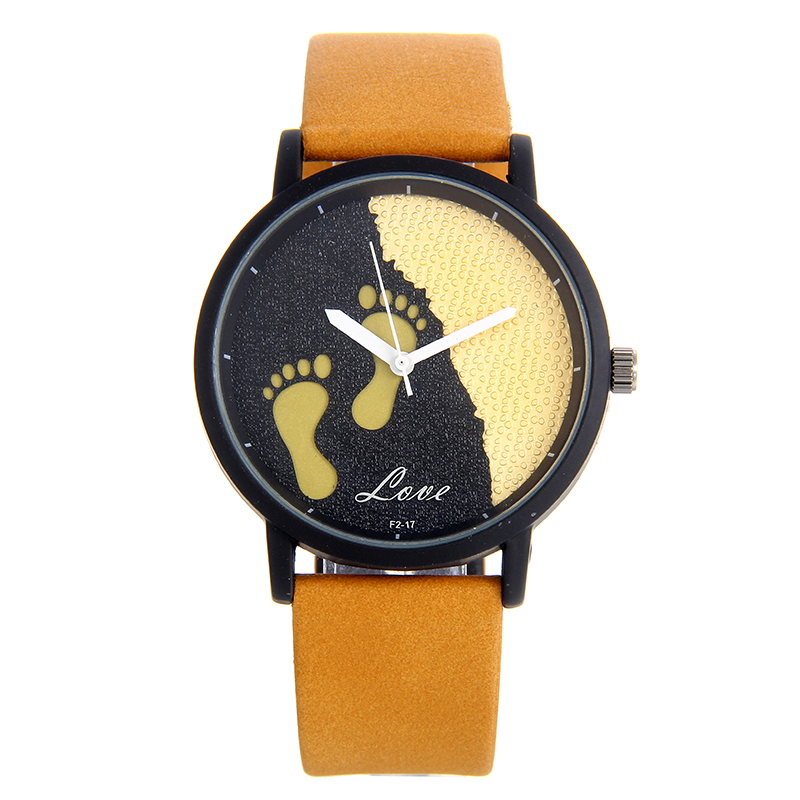 BGG brand Ladies Dress Watch Female feet dial Quartz Wristwatch Leather Strap Women Creative Fashion Casual Clock hours relojes