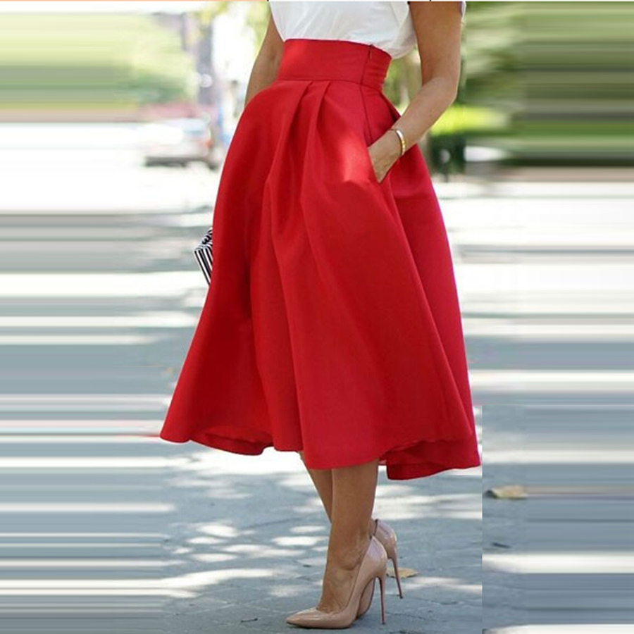 Popular Red Pleated Skirt-Buy Cheap Red Pleated Skirt lots from ...