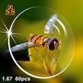60 pçs/lote 1.67 Índice CR39 Anti Fadiga Asférica Resina Dura Lente Miopia Prescrição de Lentes Ópticas de Alta Qualidade Por Atacado. PA605