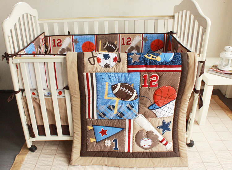 7pcs Embroidery Nursery Bedding Baby