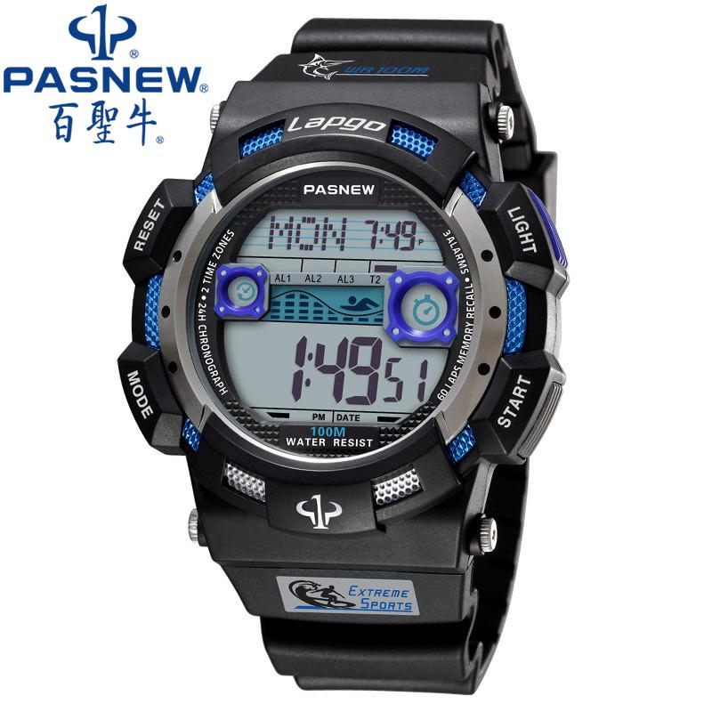 Prix pour Pasnew sport montre hommes 2017 horloge mâle led numérique bracelet à quartz de montres hommes top marque de luxe numérique-montre relogio masculino