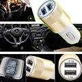 Mini Universal USB Car Charger 2.1 V Dupla USB Carro de Metal carregador Do Telefone Móvel carregador de Carro carregador de Carro de Carregamento Pequeno Canhão De Aço Kit