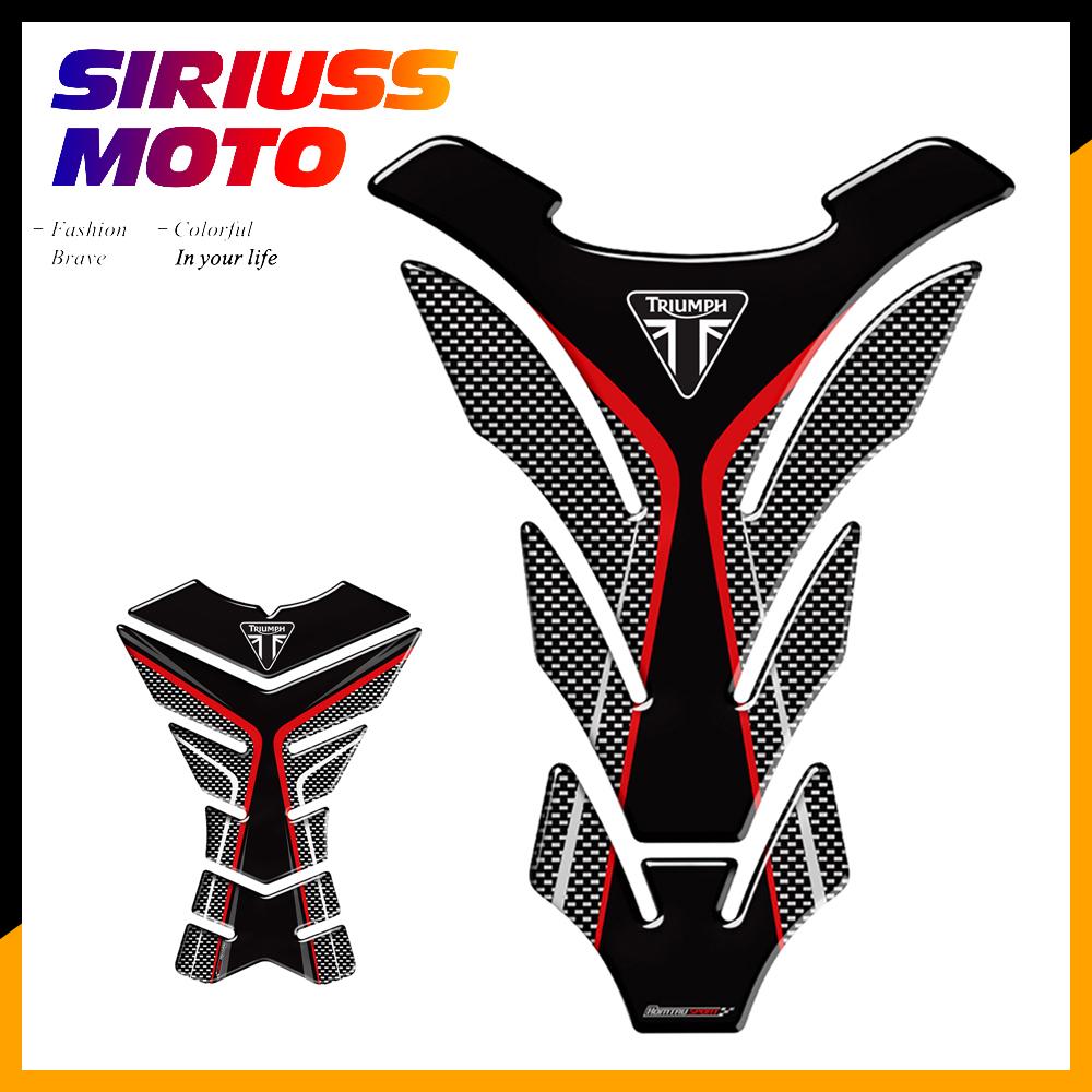 3D Motorcycle Tank Pad Protector Decal Stickers Case For Triumph 675R Tiger 800 XC Speed Triple