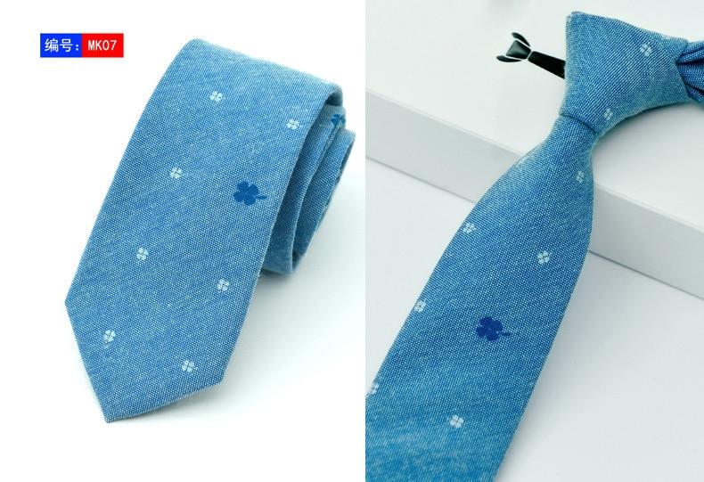15 Stili New Casual Cravatte 100% Cotone Per Uomo Vintage Stampato - Accessori per vestiti - Fotografia 5