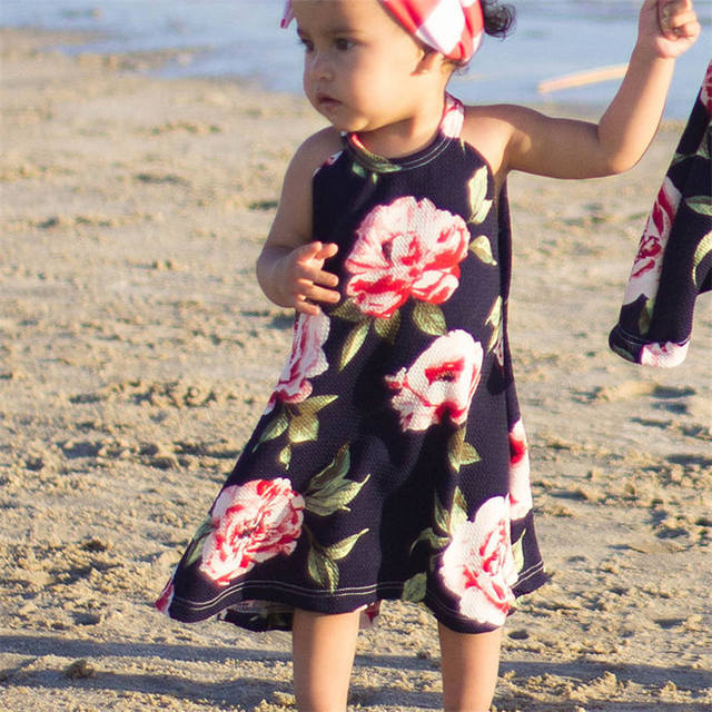 COMFY KIDS Clothes Hot Sale Children Clothing Family Dress Mother and  Daughter Matching Floral Womens Girls Long Rose Dresses 4a7ecde61