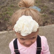 Yundfly Boutique Princess Baby Girls Headwear Kids Burned Flowers Hair Accessories Elastic Little Floral Headdress