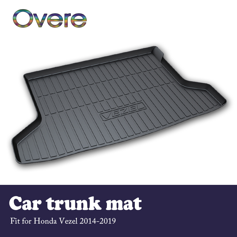 Overe 1Set Car Cargo rear trunk mat For Honda Vezel 2014 2015 2016 2017 2018 2019 Anti slip mat Waterproof carpet Accessories