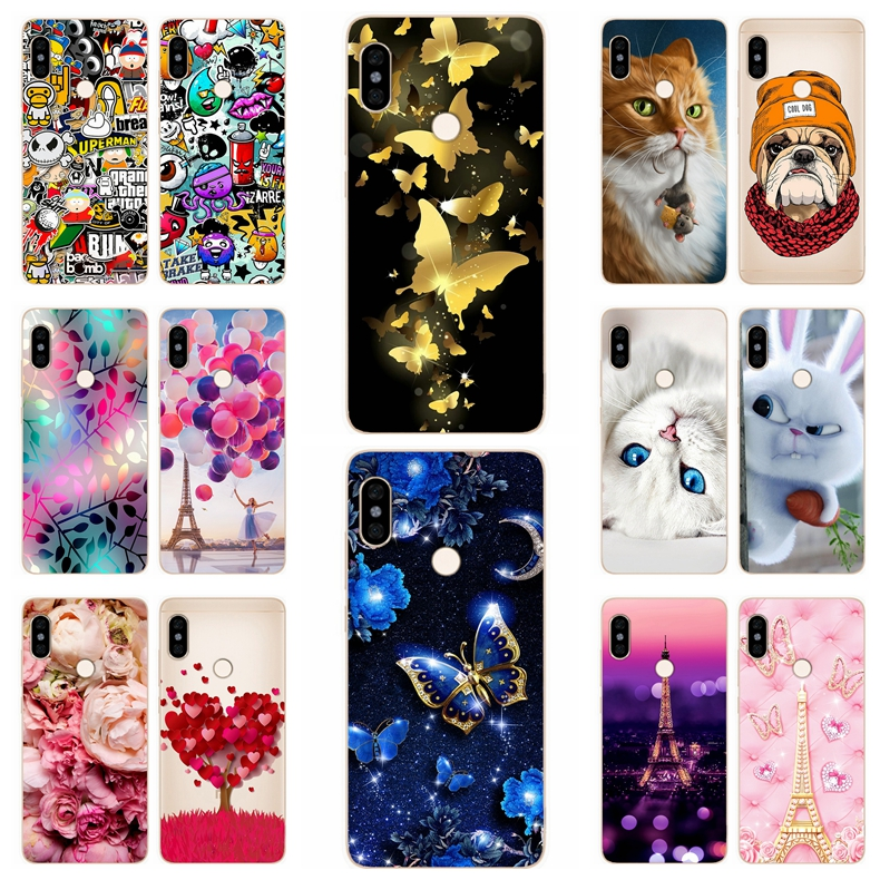 Silicone Cover For Xiaomi Redmi Note 5 Case 5.99' Printing Cool Animal Case for Xiomi Redmi Note 5 pro Cover Note5 Phone Cases