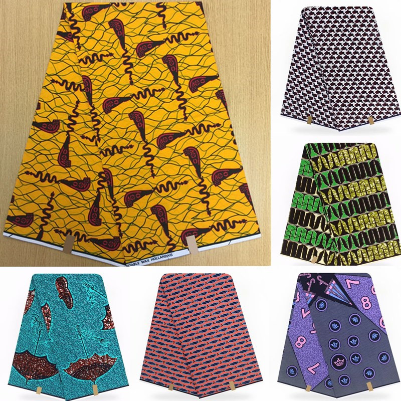 Wholesale! 2019 New Arriva 100%Cotton African Wax Cloth Hollandais Wax African Dutch Wax 6Yards/Piece ! L121725Wholesale! 2019 New Arriva 100%Cotton African Wax Cloth Hollandais Wax African Dutch Wax 6Yards/Piece ! L121725