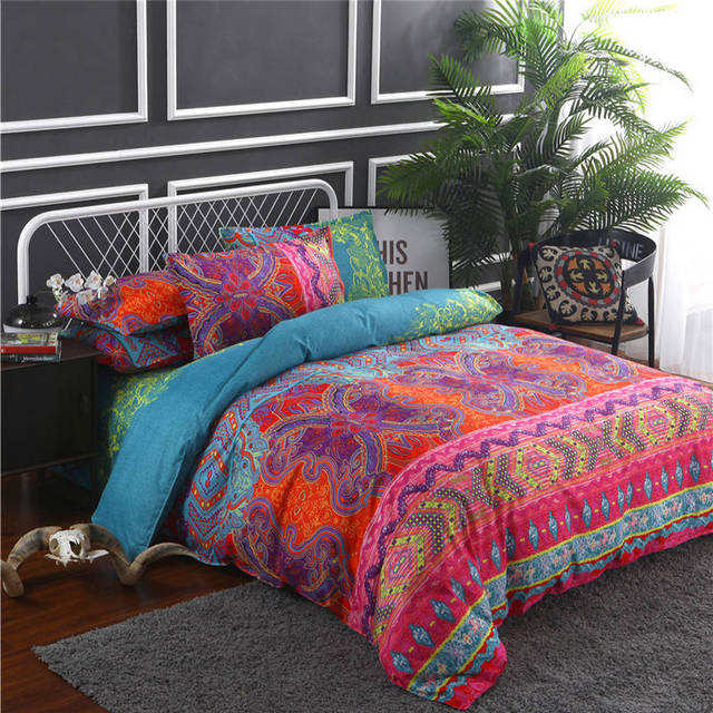 US 44 0 Indian Style Bedding Set Soft Comfortable Queen King Size Duvet Cover With Pillowcase Bed Set Home Textile In Bedding Sets From Home