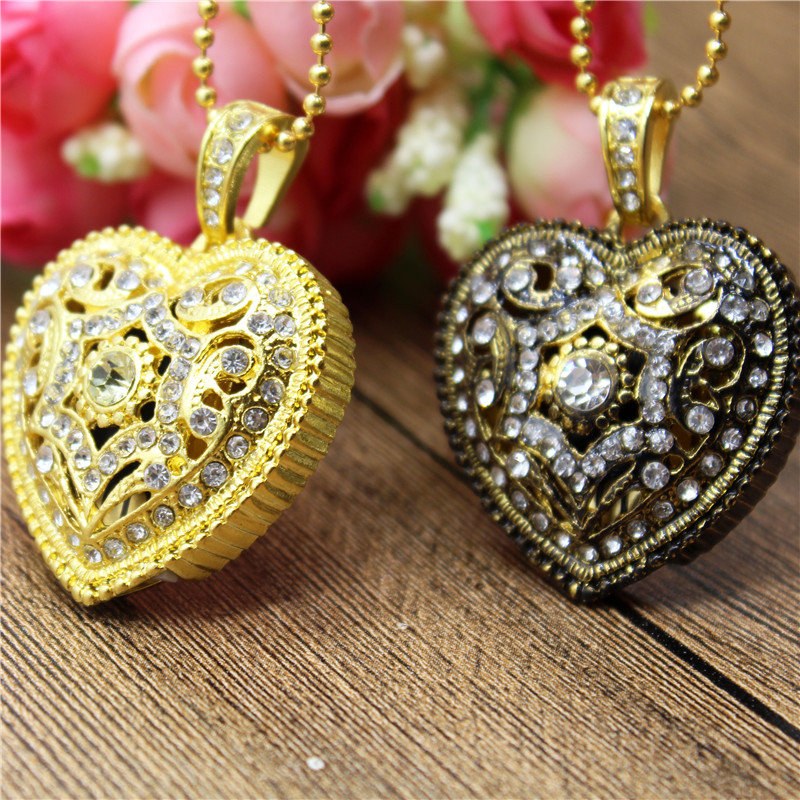 TEXT ME Beautiful Crystal Heart Usb 2.0  Usb Flash Drive 4GB 8GB 16GB 32GB Gift For Girl Love Pendrive