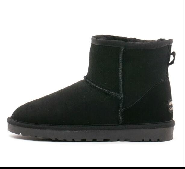Brand Australia Women Snow Boots 100% Genuine Cowhide Leather Ankle Boots Warm Winter Boots Woman shoes large size 34-44 new