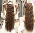 Long curly wig horsetail  Stealth puffed corn hot type of tie must be tied type horsetail horse-hair wig