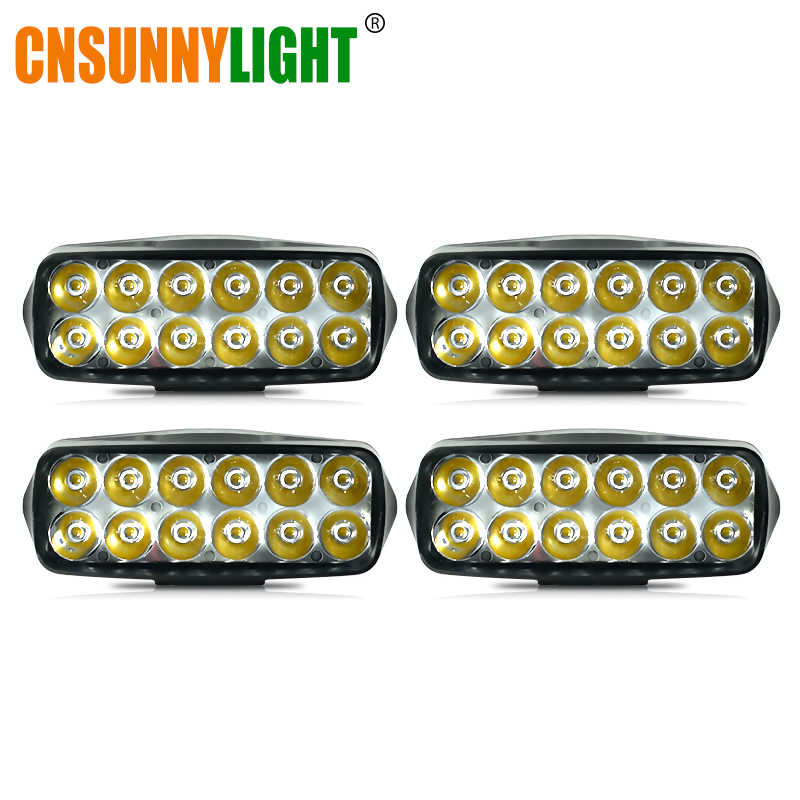 CNSUNNYLIGHT 4pcs 5 Inch Offroad LED Work Light Spotlight Spot Beam Drive Lamp for 4x4WD Car 4WD Boat SUV ATV Truck Motorcycle