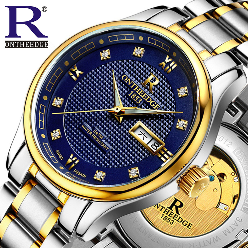 ФОТО Switzerland luxury men's watch brand Mechanical Wristwatches 50 ATM Waterproof Tuo fly wheel watches full stainless steel
