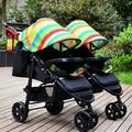 2016 marca nuevo diseño desmontable Gemelos amortiguadores luz cochecito de bebé plegable bb cochecito del paraguas del coche desmontable