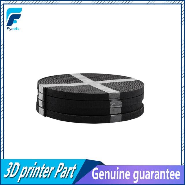 5 m/lot GT2-6mm courroie de distribution ouverte largeur 6mm GT2 ceinture Rubbr fibre de verre coupe à longueur pour imprimante 3D en gros