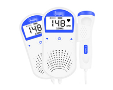 Pelvfine Fetal Doppler Ultrasound Heartbeat Detector Portable Pregnant Baby Heart Rate Monitor LCD Pocket Vascular Doppler
