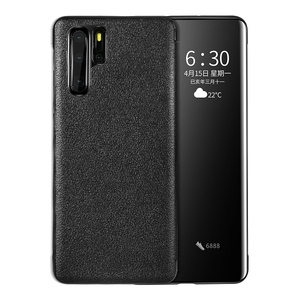 Image 5 - For Huawei P30 Pro GEnuine Leather Flip Case Cover Original Cenmaso  Smart Touch Clear View Protective Phone Case