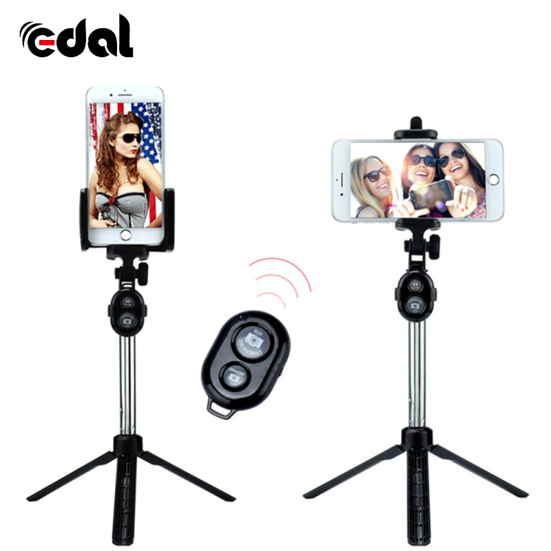 Stainless Steel 75cm Foldable Foldable Self Bluetooth 3.0 Selfie Stick Tripod Shutter Remote Controller for iPhone/Android