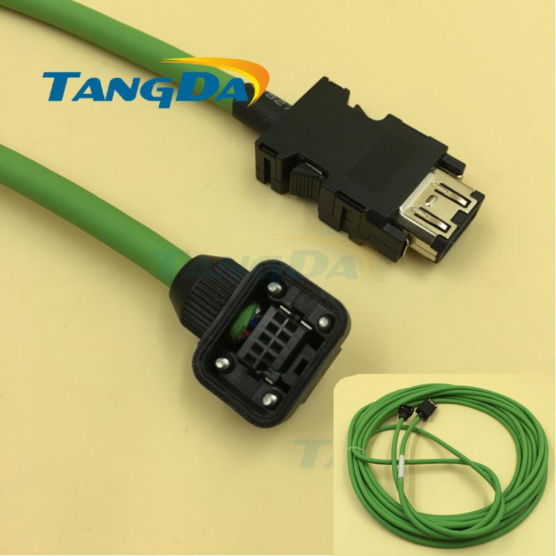 Tangda Servo motor code line series connection wire Cable 5 meters MR J3ENCBL3M A1 L J4 JE series Motor signal HC KF promotion 6pcs 100