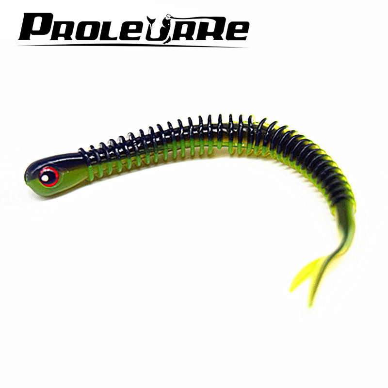 5 Pcs/Lot 12cm 5g Plastice Grubs 80mm 3.8g silicone bait Worms Fishing Lure Attractive Fish Crab Fishing Bait Soft Bait YR-356