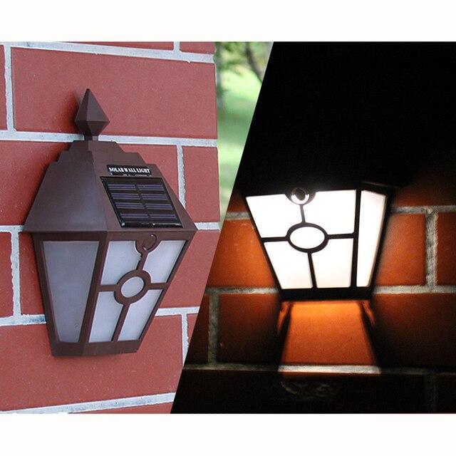 Lampade Da Esterno Plastica.Solare Lampada Da Parete Esagonale Di Plastica Luci Giardino Esterno