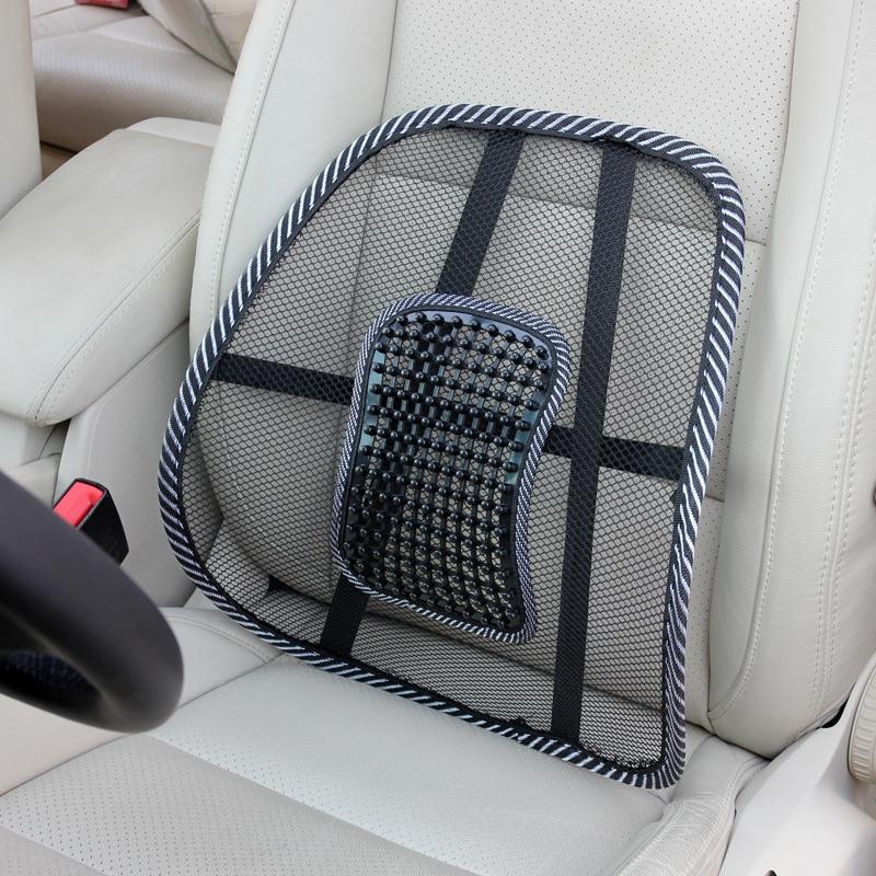 Fundas de asiento de silla de oficina para automóvil Masaje transpirable de malla Asiento de respaldo Cojín de asiento de automóvil Cojín de soporte lumbar Almohada lumbar