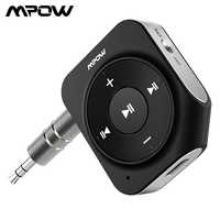 Mpow BH203 Bluetooth Receiver 15H Playing Time Adapter Dual Mic Noise Reduction Car Kit For Home/Car Audio System Supports Siri