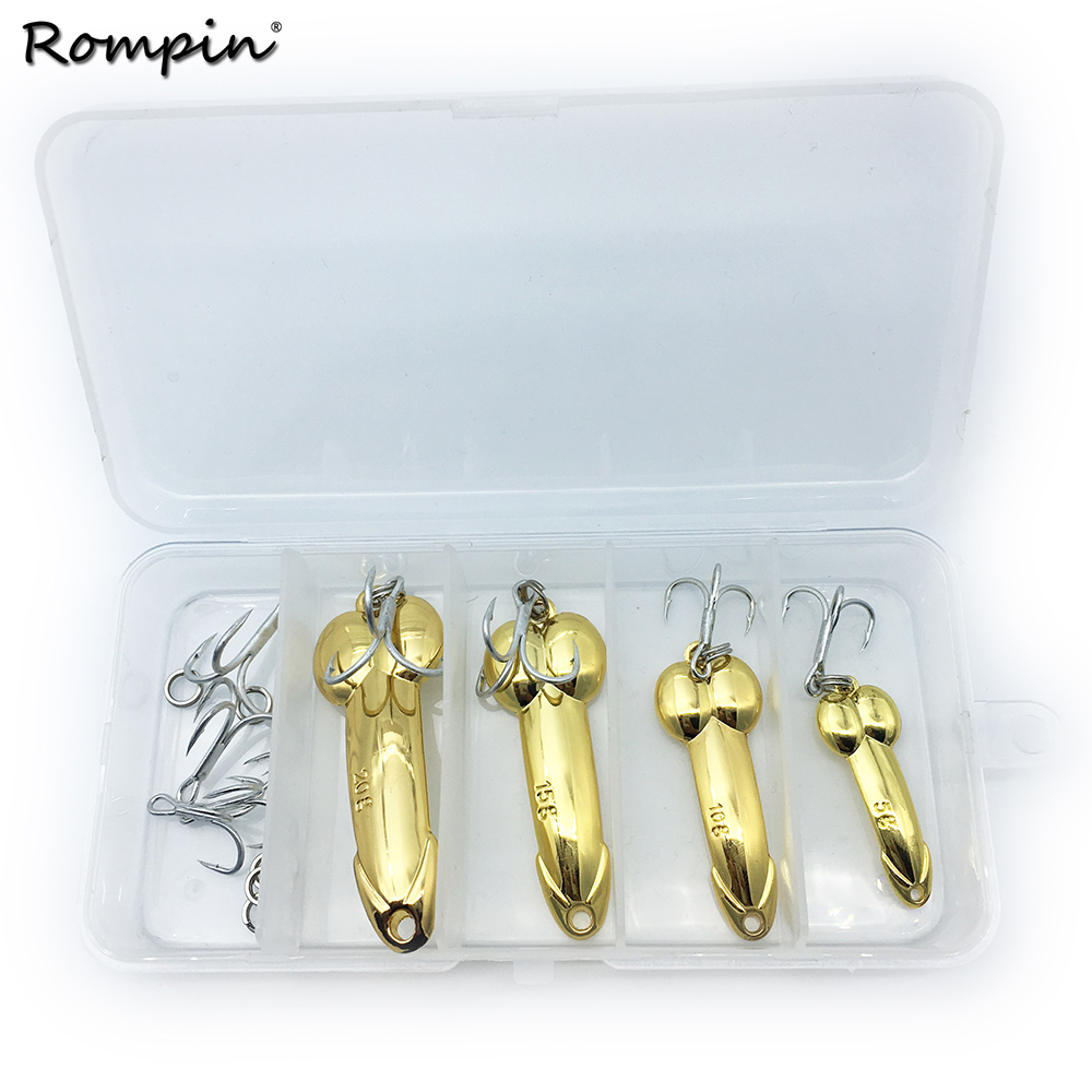 1pc Spoon Fishing Lure 5g//10g//15g//20g Hooks Gold//Silver Metal Bait Tackle Treble