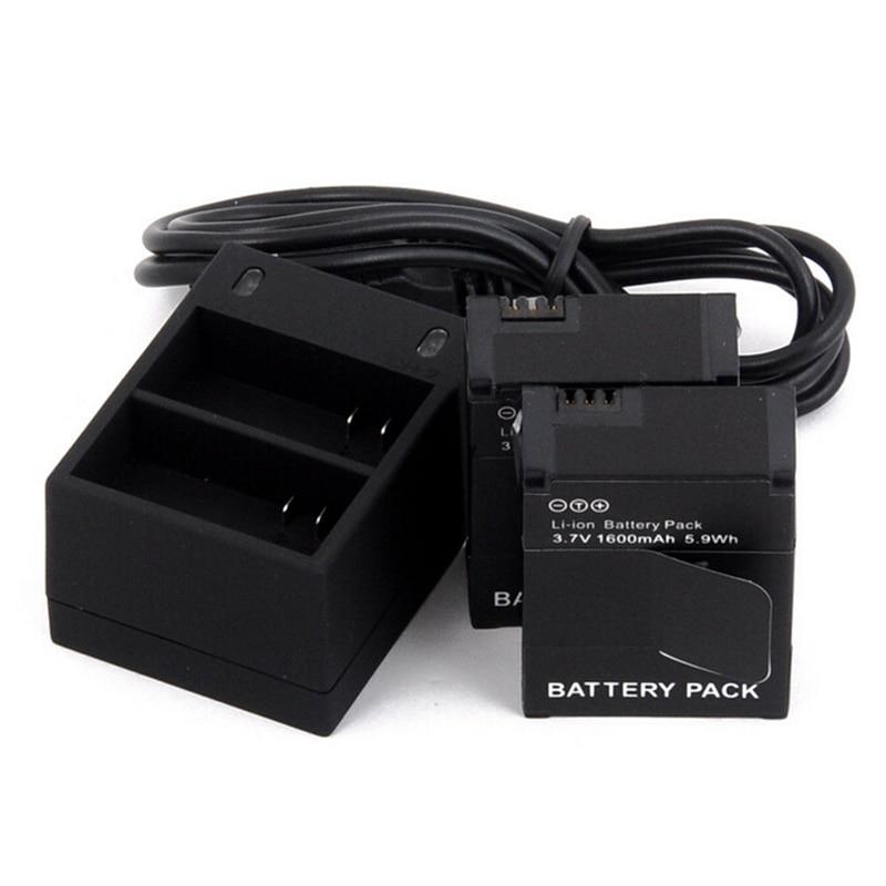 For GoPro Hero 3 Camera Battery Pack 3.7V 1600mAh Lithium Batteries With Dual Charger For GoPro Hero3 Hero3+ Camera