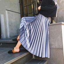 Autumn and winter new women's fashion pleated skirt medium-long velvet skirt free shipping