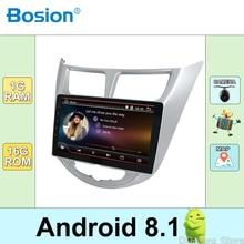 4 ядра Android 8,1 автомобиля радио для Hyundai Solaris Accent Verna с gps навигации Видео Стерео мультимедийный плеер