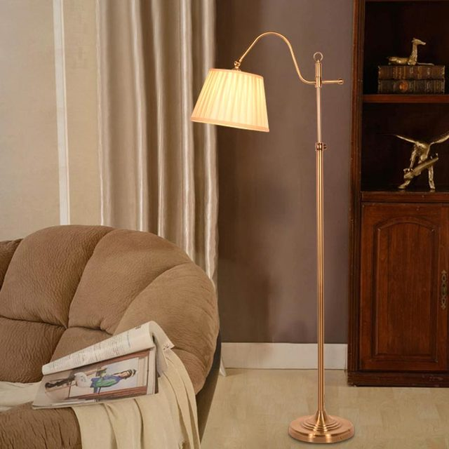 Modern Floor Light Classic Living Room Bedroom Adjustable Direction Standing  Lamp Copper Color Lamp Stand Home