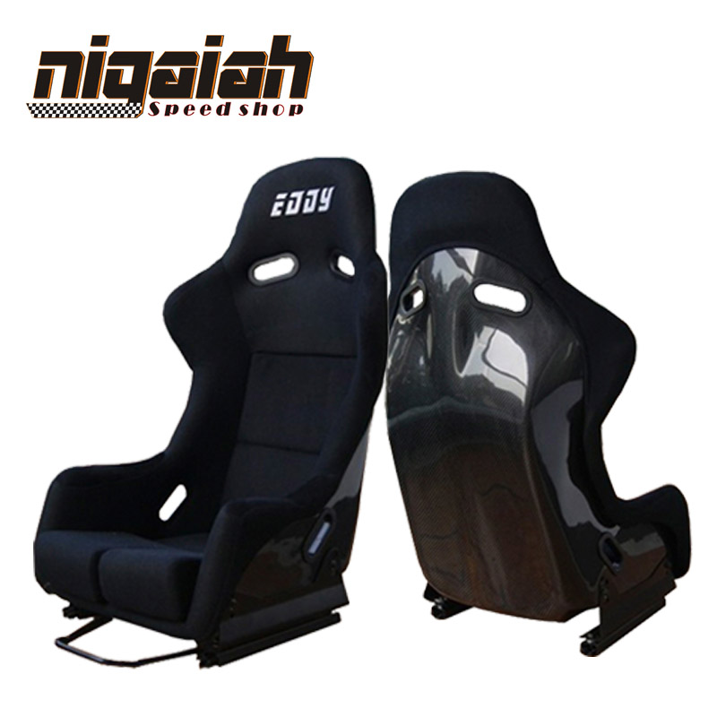 2PCS/LOT Drift Racing Bucket Seat Black Carbon Fiber Red/Blue/Black/Yellow Kevlar Sport Racing Car Seat DRIFT Seat