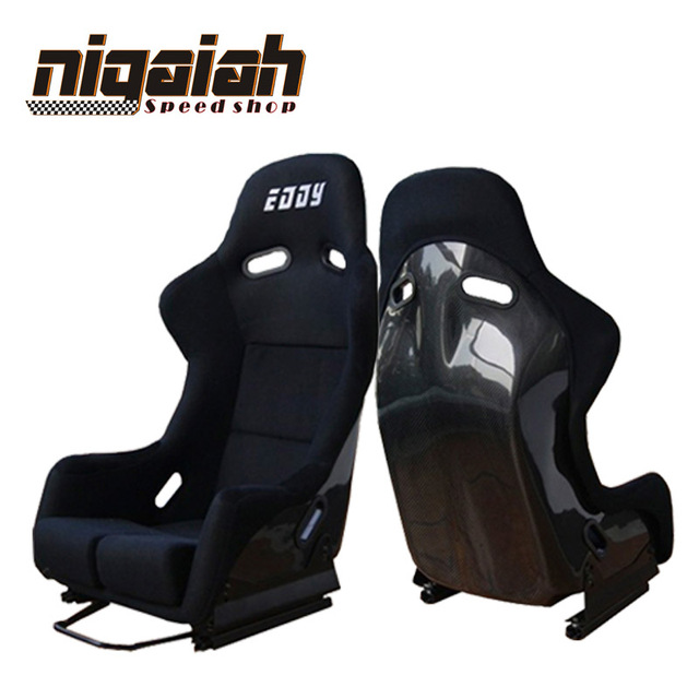 2PCS/LOT Drift Racing Bucket Seat Black Carbon fiber Red/Blue/Black