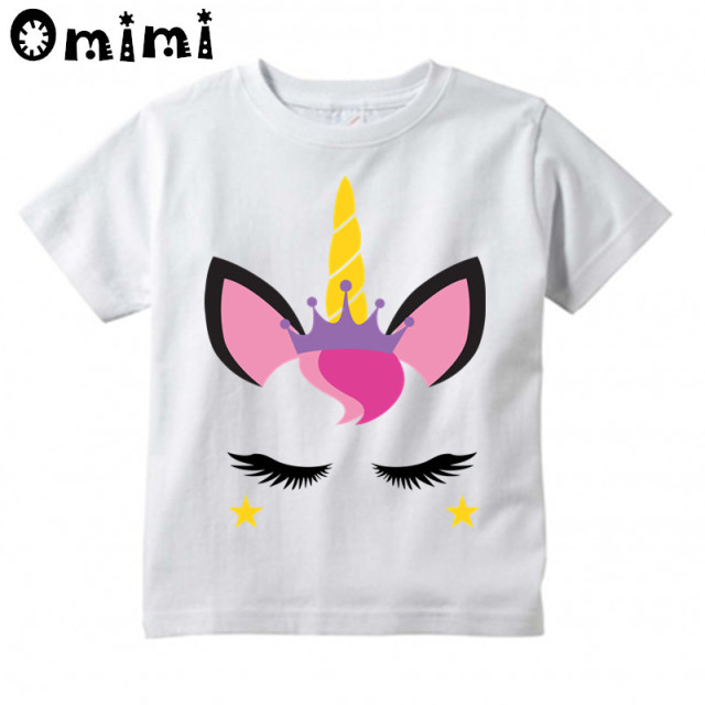 Kids T Shirt Design Ideas | Kids Kawaii Unicorn Face Cartoon Design T Shirts Children S Cute