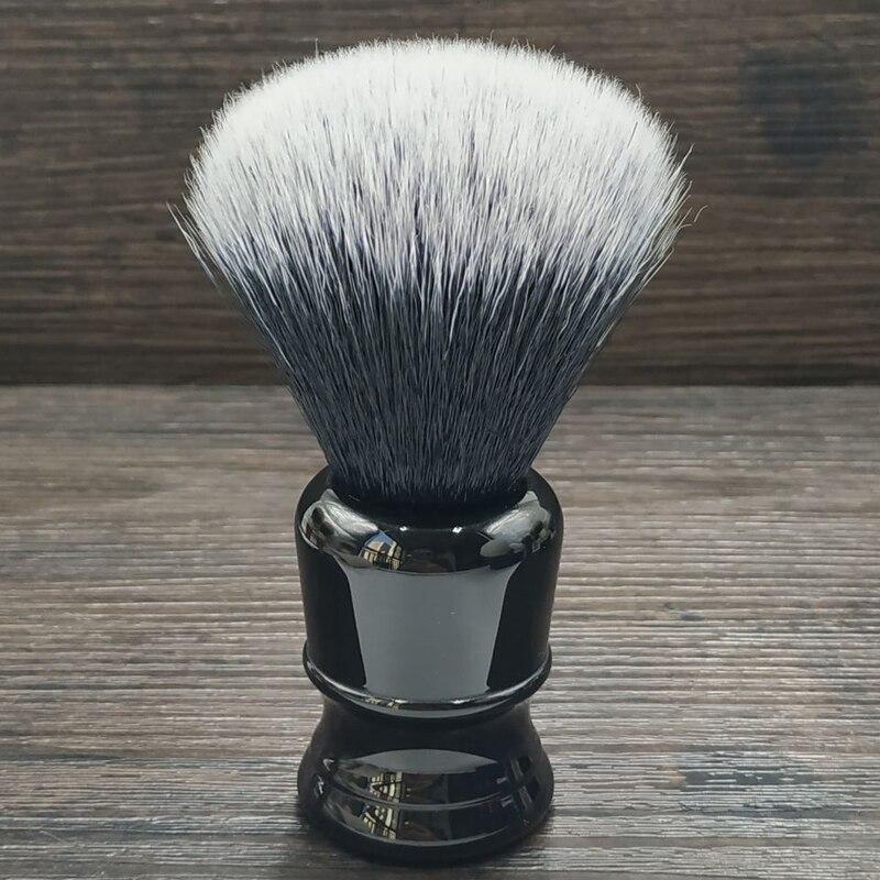 Dscosmetic 24mm Tuxedo Synthetic Hair Shaving Brush With Black Resin Handle