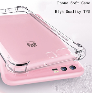 For Huawei P20 Pro P10 lite 2017 Mate 9 10 Pro lite Nova 2 2i Honor 6A 6X 7X 9 6C 8 Pro Case Shockproof TPU Clear Silicone Cases(China)