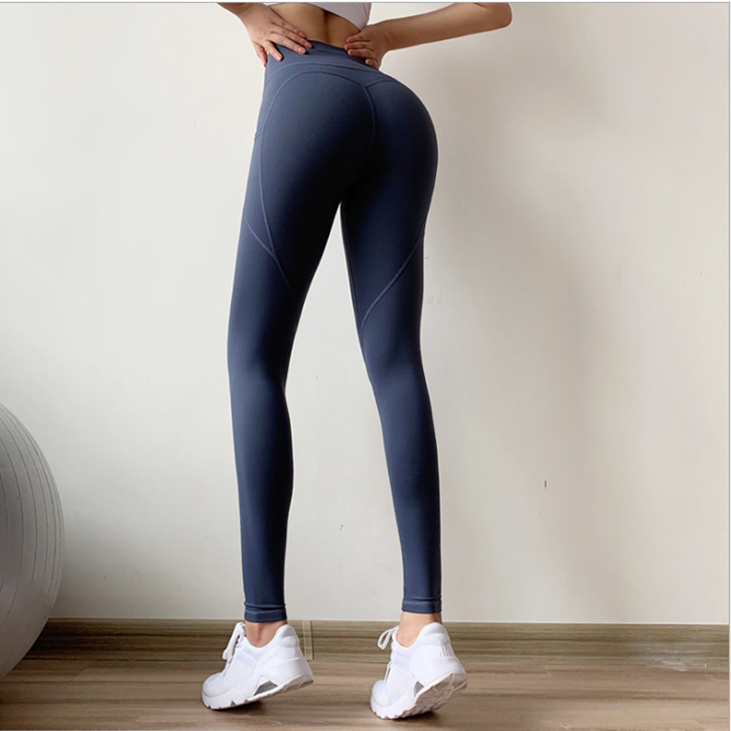 Yoga Pants Women Quick Drying High Waist Stretchy Running Fitness Sport Leggings Compression Tights Pencil Trouser 2019 FH283 in Yoga Pants from Sports Entertainment