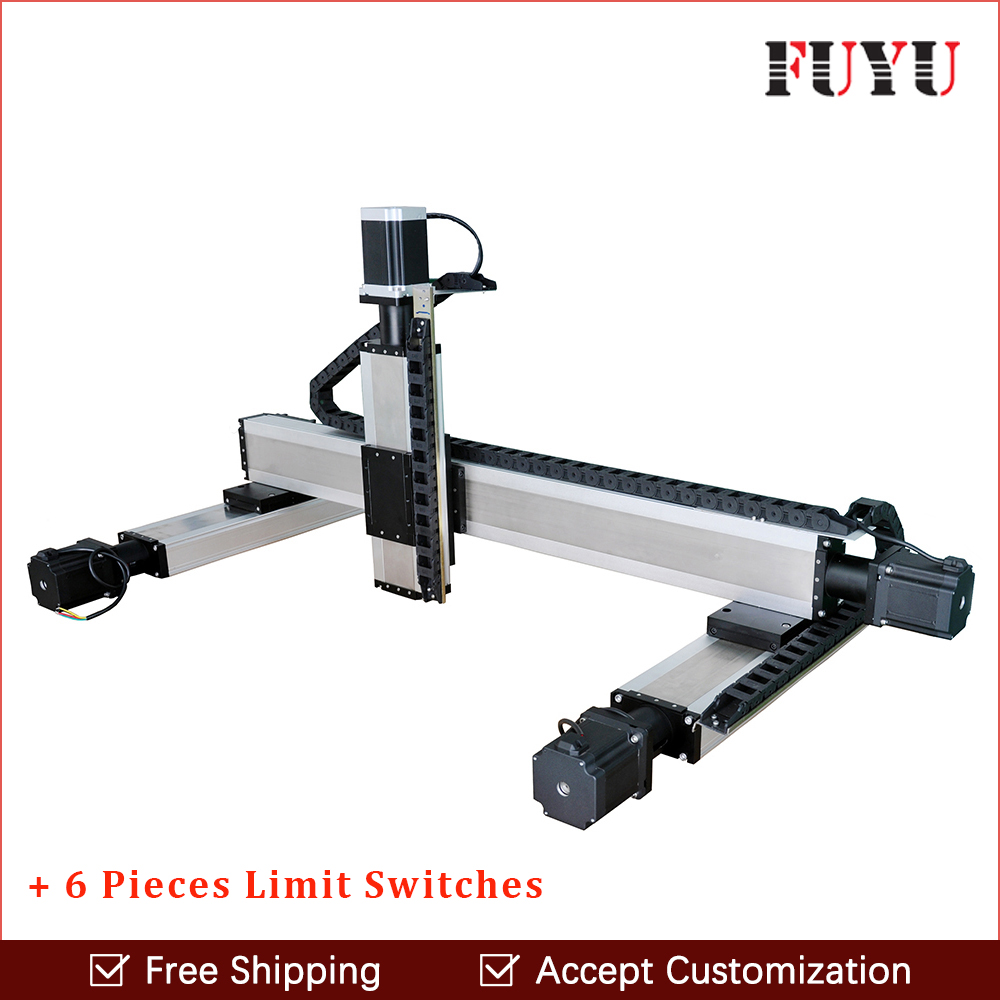 Fuyu linear guide rail straight slide module double track ball screw 1610 for XYZ axis/gantry/table/workbench support customized 12 8 cm with a rail enthusiast straight double tuning slide fader potentiometer a10k