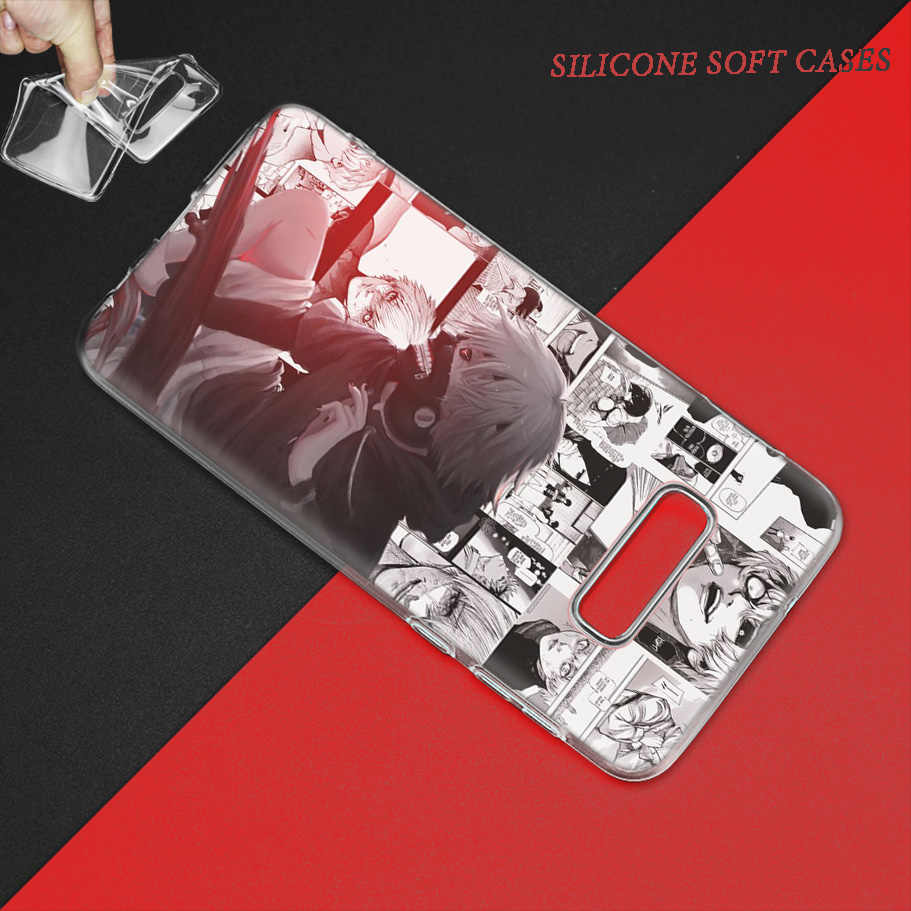 Kyoko Ghoul Marie Case untuk Samsung Galaxy S8 S9 S10 5G S10e S7 Note 8 9 J4 J6 PLUS j5 J8 2018 J3 Silikon Anime Tas Telepon Capa