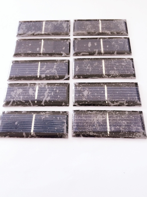 10pcs/pack 0.5V 150MA Solar panels  Polycrystalline Silicon solar cells solar accessories for DIY small toy accessories