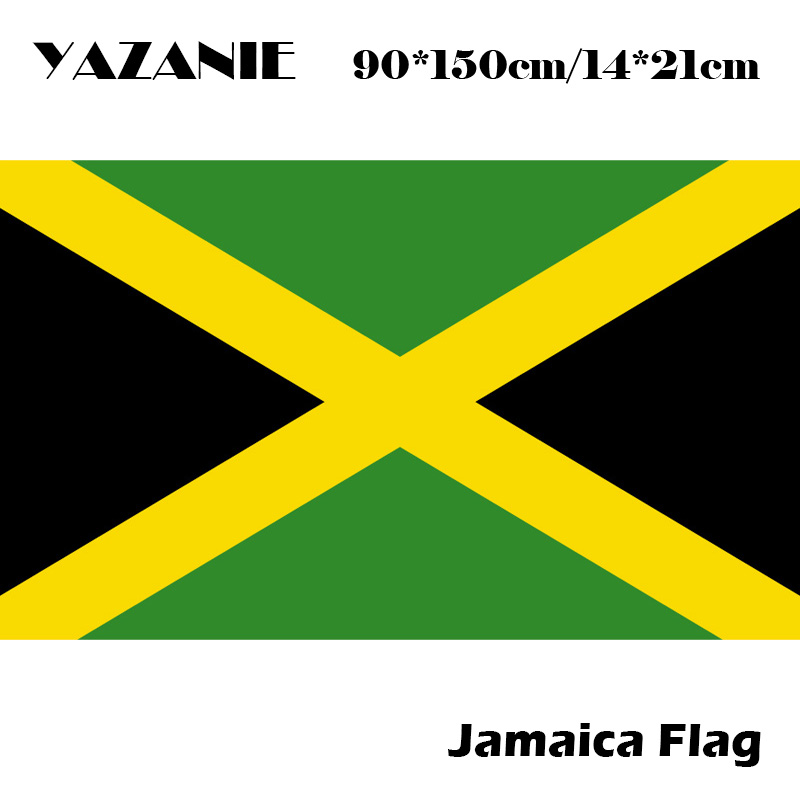 1pcs Jumbo 90*150 Jamaica Flags And Banners Polyester Be Proud ...