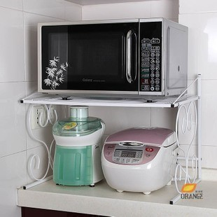 fashion iron microwave shelf kitchen shelf rack corner. Black Bedroom Furniture Sets. Home Design Ideas